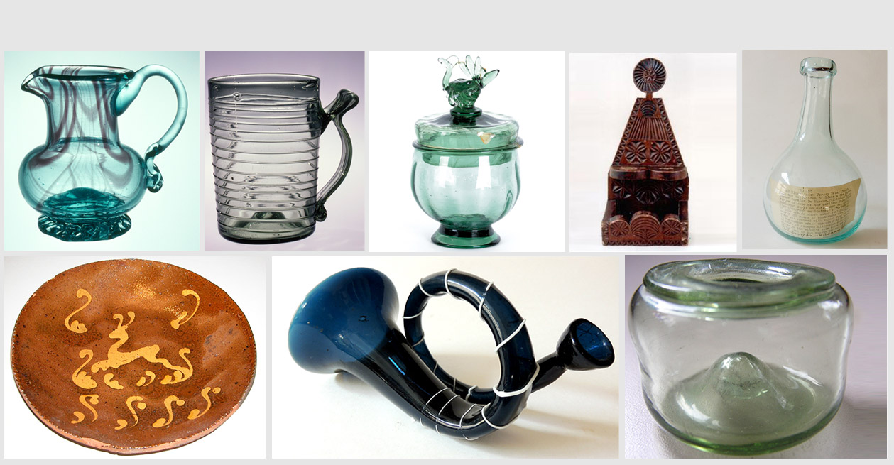 Antique Blown Glass,Pottery & More