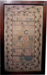1787 New Jersey Lippincott Family Sampler