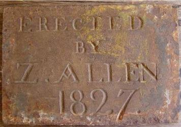 Early dated Iron Building Plaque