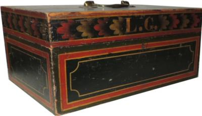Original Paint Decorated Box