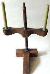 19th Century Adjustable Double Candle Holder