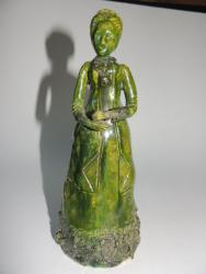 Early Earthenware Hand made Victorian Woman