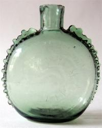 Rare Decorated Pocket Bottle, 1800-1830s