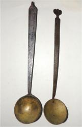 Unique Pr.Early DecoratedIron & Brass Spoons