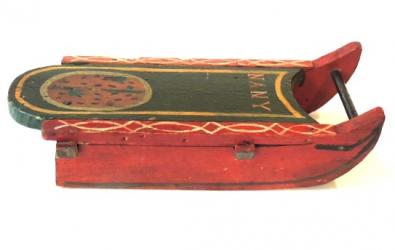 1880s Childs Toy Sled,Original Paint