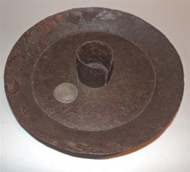 Very Early Cast Iron Candle Holder