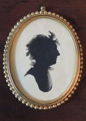 18th century Painted Burlington Co.Silhouette