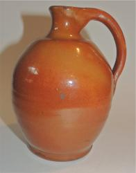 Small Redware Connecticut Jug  6