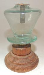 Bottle Glass Peg Lamp
