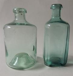 2 Early American Medicines Bottles