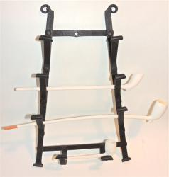 Rare Wrought Iron Hanging Pipe Rack