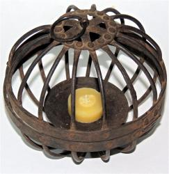 Early Wrought Iron Candle Globe