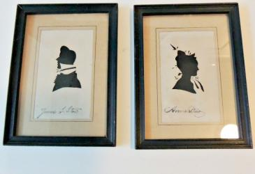 A Pr Signed Family Silhouttes