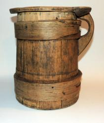 Huge Early Wooden Tankard