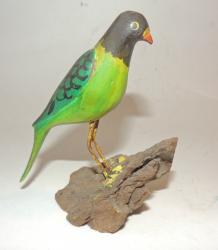 Hand Carved Parrot