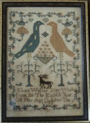 1729 Sampler,Trees, Birds,Ducks etc.