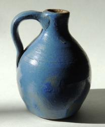 Early Miniature Jug Cobalt Glaze
