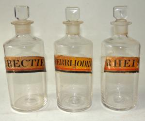 3 Early Pontiled Apothecary Bottles
