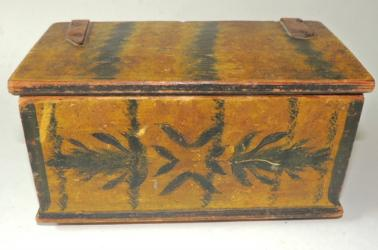 Early Paint Decorated Trinket Box
