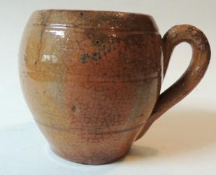 Rare Early Redware Mug