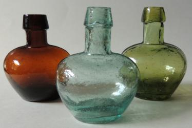 Group of Miniature Demijohn Bottles