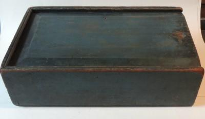 Early Large Blue Candle Box
