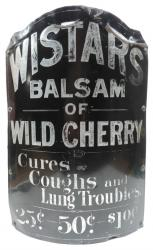 Wistars Medicine Advertising Sign