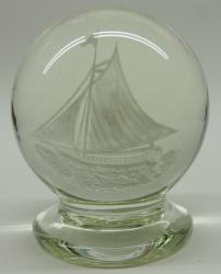 Millville New Jersey Footed Paperweight