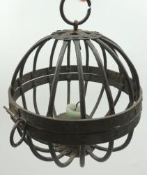 Early Iron Hanging Caged Ball Pricket