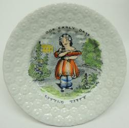 Rare Naughty Staddforshire Saucer + One